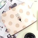 Black - Falling in love day dot pattern zipper pouch