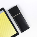 Black - Fenice Office pencil case with elastic band