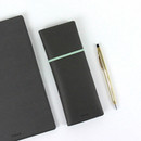Gray - Fenice Office pencil case with elastic band