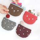 Indigo The Basic portable felt coin zipper pouch case ver.5