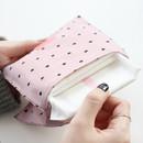 Pink dot - Pattern secret daily cotton pouch