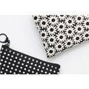 Detail of Plain pattern small flat zipper pouch