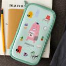 Mint - Indigo Monster multi zip around pencil case