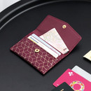 Burgundy - Iconic Pochette pattern card case pocket wallet