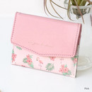 Pink - Iconic Pochette pattern card case pocket wallet