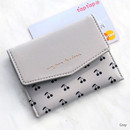 Gray - Iconic Pochette pattern card case pocket wallet
