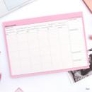 Pink - Schedule manager undated monthly desk planner