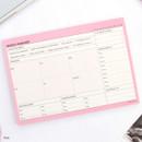 Pink - Schedule manager undated weekly desk planner