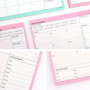 Paperian Schedule manager undated weekly desk planner