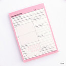 Pink - Schedule manager undated daily desk planner