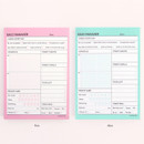 Color of Schedule manager undated daily desk planner