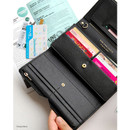 Classy black - Wide pass slim clutch wallet