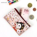 Myeong wol - Choo Choo cat slim zipper card case