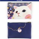 Heaven - Choo Choo cat slim zipper pouch