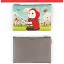 Red hood - Choo Choo cat slim zipper pouch