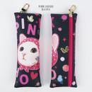 Pink hood - Choo Choo cat slim pencil case