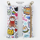 White patch - Choo Choo cat slim pencil case