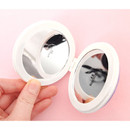 double sided compact round mirror