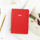 Red - Romane illustration small plain and lined notebook