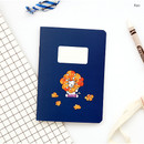 Rao - Romane illustration small plain and lined notebook