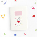 Dona - Romane illustration small plain and lined notebook