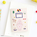 Rabbit - Romane illustration small plain and lined notebook