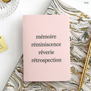 Pink - Romane illustration medium plain and lined notebook