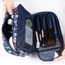 Wanna This Cosmetic makeup double side zipper pouch