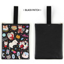 Black patch - Choo Choo cat cori zipper tote bag