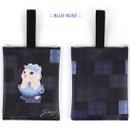 Blue rose - Choo Choo cat cori zipper tote bag