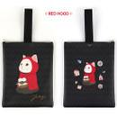 Red hood - Choo Choo cat cori zipper tote bag