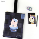 Blue rose - Choo Choo cat cori zipper tote bag