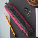 Rose pink - Draw up a plan single zipper pencil case