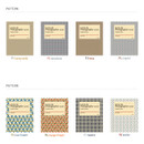 Patterns of Livre de self adhesive black photo album