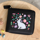 Rabbit - With Alice Rim pattern zip around wallet