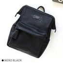 Nero black - Monopoly Cratte mini leather backpack