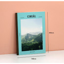 Size of Colorful A5 size grid-lined class notebook