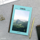 Dust blue - Colorful A5 size grid-lined class notebook