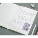 Colorful A5 size grid-lined class notebook