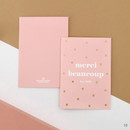 10 - Gold accent message card with envelope