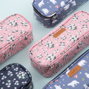 Lovely pattern block pencil case pouch