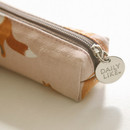 Winter fox - For your heart slim zipper pencil case