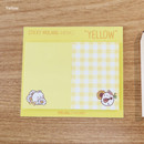 Yellow - Molang nemo cute sticky memo note