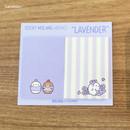 Lavender - Molang nemo cute sticky memo note