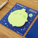 Green - Molang basic cute sticky memo note ver.2