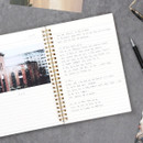 Line - The classic gold spiral notebook