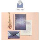 Milky way - My story letter paper and envelope set with stickers