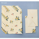 Yellow grace - Pattern illustration letter paper and envelope set