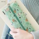 Mint tea - Willow illustration pattern zipper pencil case