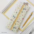 Yellow donkey - Willow illustration pattern zipper pencil case